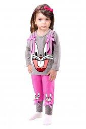Tavşan Baskılı Mevsimlik Kız Çocuk Takımı
