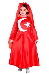 Türk Bayrağı Kostümü Kız Çocuk Kıyafeti