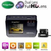 Araç İçi Kamera Lcd Ekran Full Hd 1080p 170 Derece Hdr Araç İçi + Geri Görüş Kamera