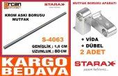 Starax 80 Cm Krom Paslan. Mutfak Askı Borusu Boru S 4062 + Aparat