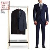 15 Adet Fermuarlı Takım Elbise Kılıfı Koruyucu 100x60cm