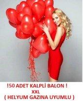 Kalp Şeklinde Balon 50 Adet 1.kalite Helyum Gazına Uyumlu