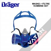 Drager 3300 + Filitre Yarım Yüz Maske