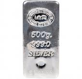 500 Gr Gram Külçe Gümüş