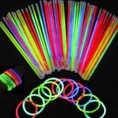 Glow Stick Fosforlu Kırılan Çubuk 100 Adet