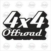 4 X 4 Off Road Sticker 22009