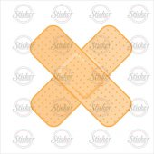 çapraz Sarı Yarabandı Sticker 20020