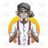 Cool Maymun Sticker 17022