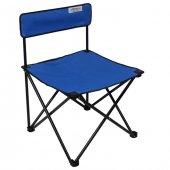 Romee Kolsuz Katlanır Bahçe Kamp Sandalyesi Mavi