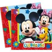 Orijinal Lisanslı Mickey Mouse 20lı Kağıt Peçete