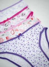 3 Adet Modatime Kız Çocuk Slip Külot 100 Pamuk