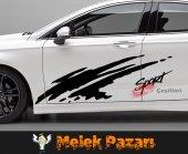 Sport Araba Yan Sticker
