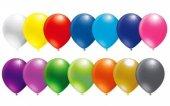 Karışık Renk Metalik Balon Parlak Balon Sedefli Balon 50 Adet