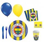 16 Kişilik Fenerbahçe Parti Seti Sarı Kanarya Doğum Günü Seti