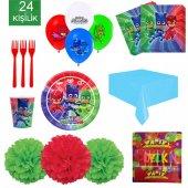 24 Kişilik Pj Maskeler Parti Seti Pj Maskeler Doğum Günü Set