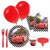 24 Kişilik Arabalar Parti Seti Şimşek Mcqueen Doğum Günü Seti