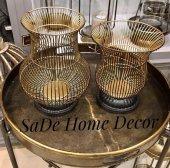 Sadehomedecor Luck Art Gold Siyah Mumluk 30cm 25 (2 Li Set)