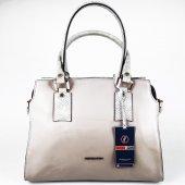 Silver Polo Krem Rengi Kadın Çantası #1010
