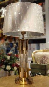 Altın Cubuklu Abajur 70 Cm