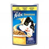 Felix Sensatıons Çifte Lezzet Tavuklu Havuçlu Yetişkin Kedi Konse
