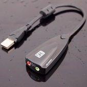 Usb Ses Kartı 7.1 Virtual Sound 3d 5hv2 Çevirici Dönüştürücü