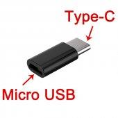 Usb 3.1 Type C To Mikro Usb Şarj Çevirici Dönüştürücü Adaptör
