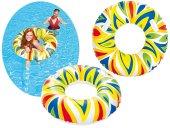 Plaj Topu Hediye Bestway 36053, Desenli Büyük Tutmalı Simit Havuz, Deniz Yüzme Simidi, 107 Cm