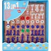 Satranç Ve Tavla Oyunu Kutulu 13 Oyun Bir Arada