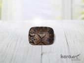 Keramika Kayık Dikdörtgen 13cm Tabak Mat Transpar