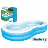 Bestway Jumbo Oval Renkli Havuz, Şişme Çocuk Havuz...