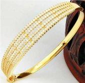 Altın Kaplama Taşlı Gümüş Bilezik Sevgiliye Hediye...