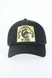 Siyah Renk Yeni Sezon Dore Bozkurt Ve Göktürkçe Türk Yazı Tasarımlı Şapka