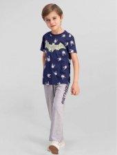 Batman Erkek Çocuk Lisanslı Lacivert Kısa Kol Pijama Takımı L9926 C