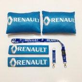 Renault Mavi Boyun Yastık Seti