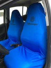 Volkswagen Mavi Ön 2li Likralı Kumaş Servis Kılıfı...