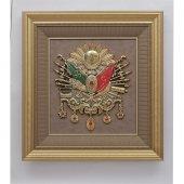 Osmanlı Devlet Arması Büyük Boy Tablo Çerçeve 70x75 Cm