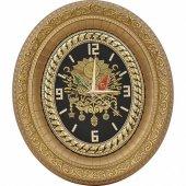 Osmanlı Armalı Taşlı Lüks Duvar Saati 32x37 Cm