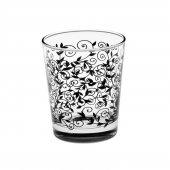 Joy Glass 6 Lı Siyah Şal Desen Su Bardağı