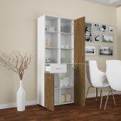 Modilayn Afra Çok Amaçlı Mutfak Banyo Dolap Beyaz Ceviz Ard124