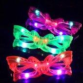 ışıklı Kelebek Parti Gözlüğü Karışık Renk 12 Adet