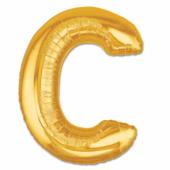 C Harf Folyo Balon Altın Renk 40 İnç