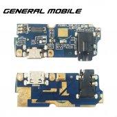 Gerneral Mobile Gm8 Go Şarj Soketli Kulaklıklı Mikrofon Bordu