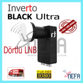 Inverto Black Ultra Twin (Dörtlü Cıkıslı) Lnb 40mm 0.2 Db