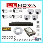 Cenova 8 Li Ahd Güvenlik Kamera Sistemi 8 Kanal Full Set