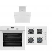 Simfer Beyaz Ankastre Set (7310 Dijital Fırın+3507...