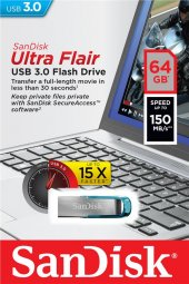Sandisk Ultra Flair 64gb Usb 3.0 Metal Usb Bellek Sdcz73 064g G46