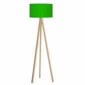 Kumaş Başlıklı 3 Ayaklı Tripod Lambader Yeşil Başlık Naturel