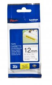 Brother P Touch Tze S231 Tze Tape 12mm Beyaz Üzerine Siyah Güçlü