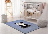 Lt.blue Panda Desing Animal Tufted Carpet Ata Halı
