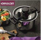Emsan Füzyon 6 Litre Yeni Nesil Hızlı Pişirici Siyah